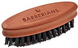 Perfumería y cosmética Cepillo ovalado de barba de madera de peral y cerdas de jabalí - Barberians. Beard Brush Oval