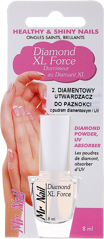 Endurecedor de uñas con polvo de diamante y filtro UV - Art de Lautrec Mr Nail Diamond Xl Force