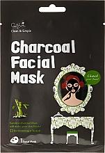 Perfumería y cosmética Máscara de tela con carbón de bambú - Cettua Charcoal Facial Mask