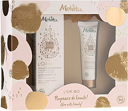 Perfumería y cosmética Set bio para cuerpo, rostro, manos y cabello - Melvita L'Or Bio (aceite para cuerpo, rostro y cabello/50ml + crema de manos/30ml)