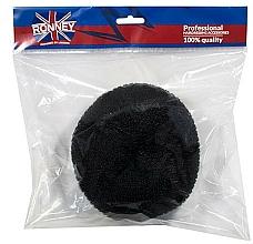 Perfumería y cosmética Esponja de moño, 15x6.5cm, negro - Ronney Professional Hair Bun 055