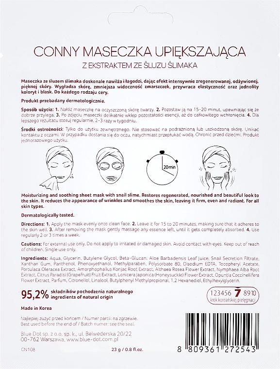 Mascarilla facial natural con baba de caracol - Conny Snail Essence Mask — imagen N2