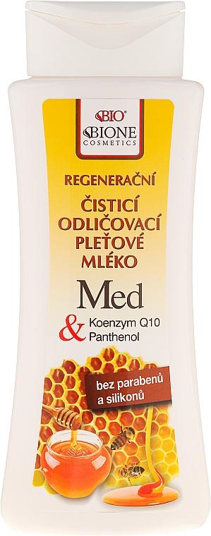 Leche facial limpiadora de miel y Q10 - Bione Cosmetics Honey + Q10 Milk