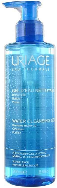 Gel facial limpiador con agua termal de Uriage, hipoalergénico - Uriage Water Cleansing Gel — imagen N1