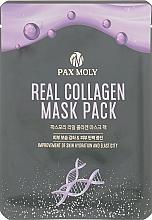 Perfumería y cosmética Mascarilla facial de tejido con colágeno - Pax Moly Real Collagen Mask Pack