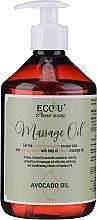 Perfumería y cosmética Aceite de masaje con aguacate - Eco U Avocado Massage Oil