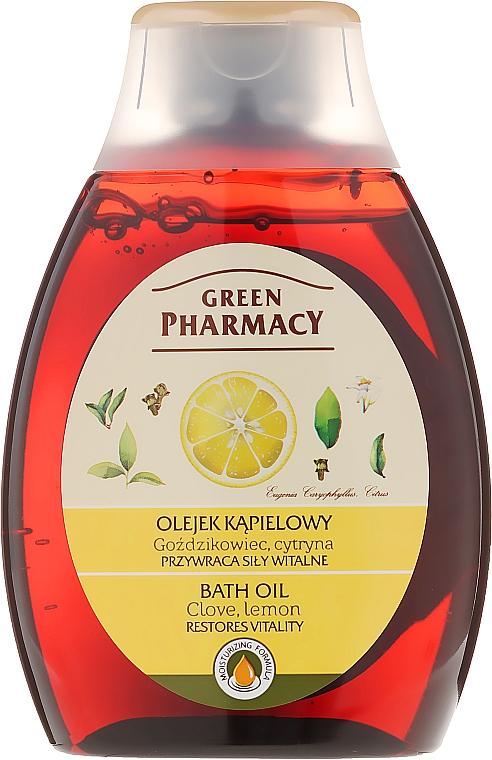 Aceite de ducha y baño, Clavo & limón - Green Pharmacy
