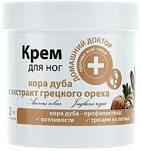 Perfumería y cosmética Crema para pies agrietados con corteza de roble y extracto de nuez - Médico casero