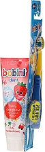 Perfumería y cosmética Pack higiene bucal sabor a fresa - Bobini (cepillo dental + pasta dental 75ml)