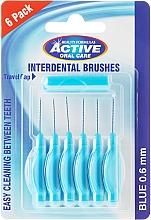 Perfumería y cosmética Cepillos interdentales con tapón, 6uds. 0,6mm, azul - Beauty Formulas Active Oral Care Interdental Brushes Blue