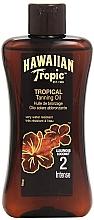 Perfumería y cosmética Aceite protector solar activador de bronceado - Hawaiian Tropic Sun Tan Oil Intense SPF 2