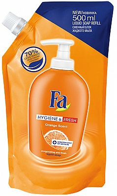 Jabón líquido de manos con aroma a naranja (recarga doypack) - Fa Hygiene & Freshness Orange Scent Soap