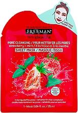 Mascarilla facial de tejido con fresa y menta - Freeman Feel Beautiful Pore Cleansing Sheet Mask — imagen N1