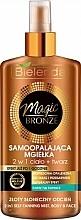 Perfumería y cosmética Spray autobronceador para rostro y cuerpo con ácido hialurónico y betaína - Bielenda Magic Bronze