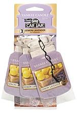 Perfumería y cosmética Ambientador de coche, lavanda y limón, 3 uds. - Yankee Candle Fluffy Lemon Lavender Jar Ultimate