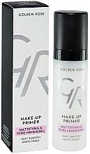 Perfumería y cosmética Prebase de maquillaje - Golden Rose Make-Up Primer Mattifying & Pore Minimising
