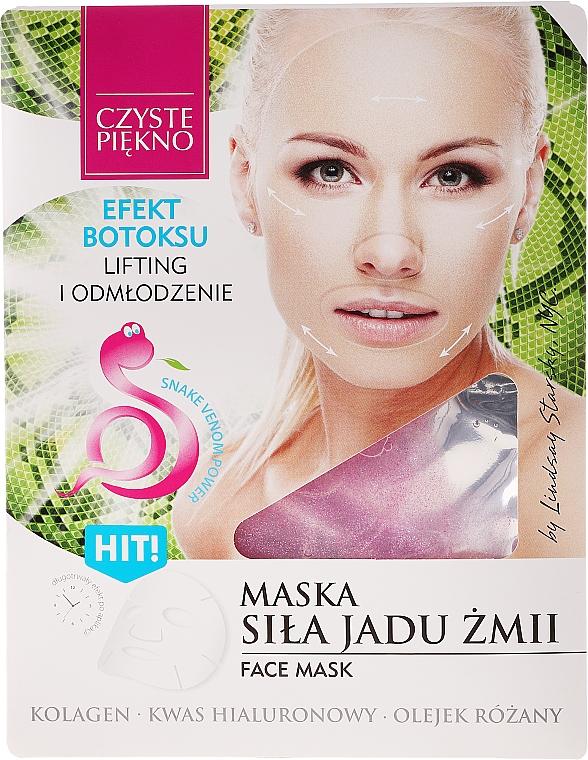 Mascarilla facial con colágeno, ácido hialurónico y veneno de serpiente - Czyste Piekno Face Mask