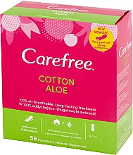 Perfumería y cosmética Salvaslips de algodón con extracto de aloe, 56uds. - Carefree Cotton Aloe