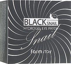 Perfumería y cosmética Parches para contorno de ojos de hidrogel con oro coloidal y extracto de baba de caracol - FarmStay Black Snail Hydrogel Eye Patch
