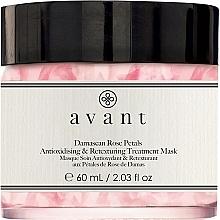 Perfumería y cosmética Mascarilla facial antioxidante y revitalizante con pétalos de rosa Damascena - Avant Damascan Rose Petals Antioxidising & Retexturing Treatment Mask
