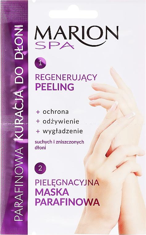Tratamiento regenerador de parafina para manos, exfoliante + mascarilla - Marion SPA Mask