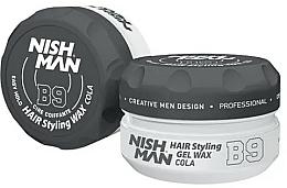 Perfumería y cosmética Cera moldeadora de cabello en gel a base de agua, fijación firme - Nishman Hair Styling Gel Wax B9 Cola
