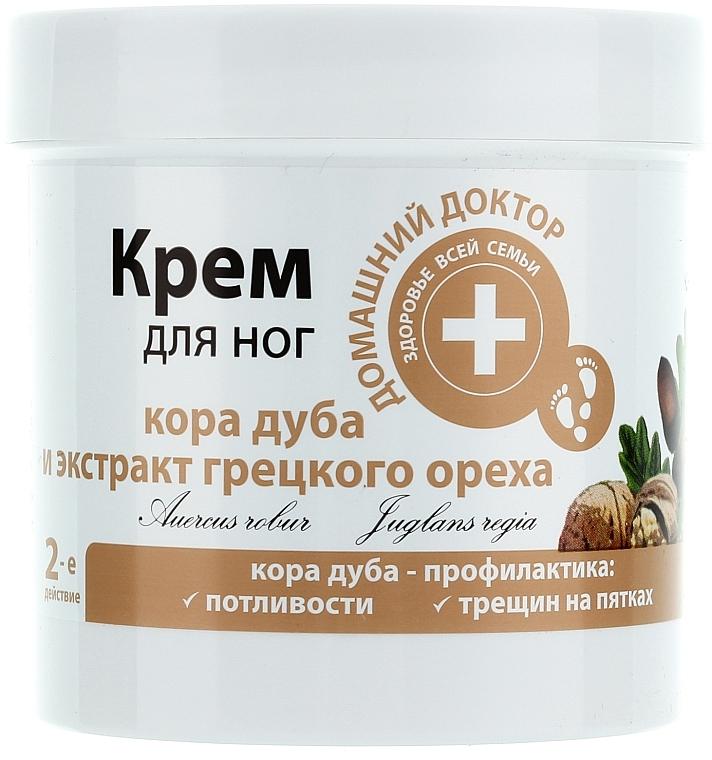 Crema para pies agrietados con corteza de roble y extracto de nuez - Médico casero
