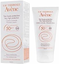 Perfumería y cosmética Crema mineral hipoalergénica resistente al agua SPF 50 - Avene Solaires Mineral Cream SPF 50+