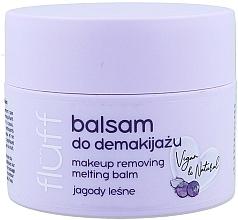 Perfumería y cosmética Bálsamo desmaquillante con arándanos silvestres, vegano - Fluff Makeup Remover Balm Wild Blueberries