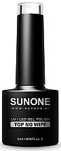 Perfumería y cosmética Top coat gel, UV/LED, sin capa pegajosa - Sunone UV/LED Gel Polish Top No Wipe