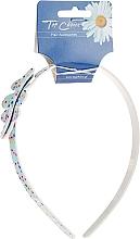 Perfumería y cosmética Diadema con decoración hoja, azul, - Top Choice