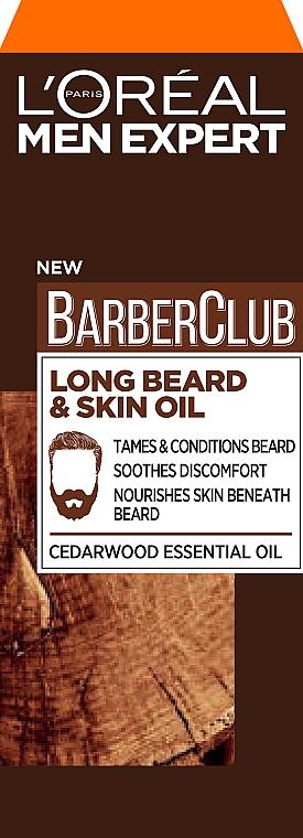 Aceite para rostro y barba con aceites esenciales - L'Oreal Paris Men Expert Barber Club Long Beard + Skin Oil