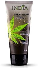 Perfumería y cosmética Crema de pies intensiva con aceite de cáñamo - India Foot Cream With Cannabis