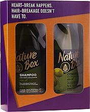 Perfumería y cosmética Set - Nature Box Olive Oil Set (champú/385ml + acondicionador/385ml)
