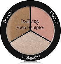 Perfumería y cosmética Paleta de colorete, iluminador y bronceador facial - IsaDora Face Sculptor