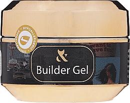 Perfumería y cosmética Gel constructor de uñas, blanco - F.O.X Builder White Gel