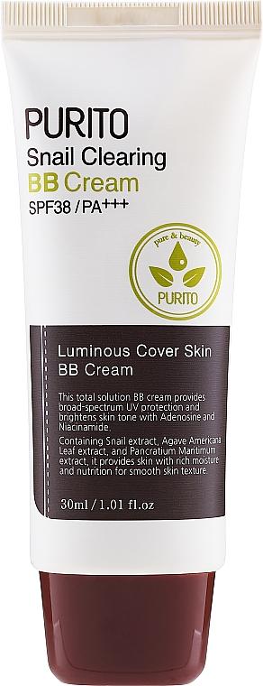 Crema BB con baba de caracol - Purito Snail Clearing Bb Cream SPF38/PA+++