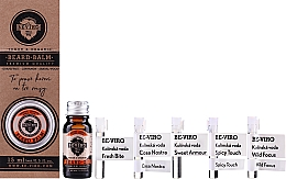 Perfumería y cosmética Set (aceite de barba/10ml+ bálsamo de barba/15ml+ agua de colonia/5x1ml) - Beviro Grapefruit Cinnamon Sandal Wood