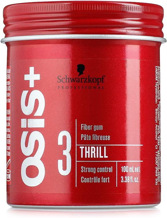 Gomina moldeadora de cabello con cera de carnauba, fijación fuerte - Schwarzkopf Professional Osis+ Thrill Texture Fibre Gum — imagen N1