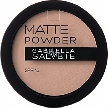 Perfumería y cosmética Polvo facial compacto con efecto mate, SPF 15 - Gabriella Salvete Matte Powder SPF15