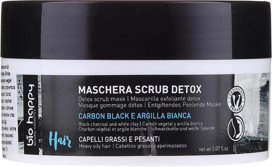 Mascarilla exfoliante con carbón vegetal y arcilla blanca - Bio Happy Carbon Black & White Clay Scrub Mask