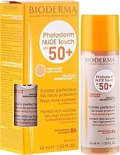 Perfumería y cosmética Crema protectora solar para rostro con color, SPF 50 - Bioderma Photoderm Nude Touch Golden Color Spf 50+