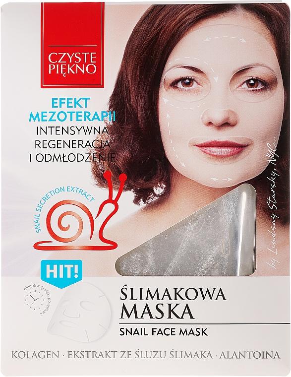 Mascarilla capilar con extracto de baba de caracol - Czyste Piekno Snail Face Mask