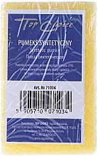 Perfumería y cosmética Piedra pómez sintética de doble cara amarilla, 71034 - Top Choice