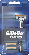 Perfumería y cosmética Maquinilla de afeitar con 5 recambios - Gillette Sensor 3