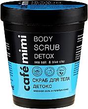 Perfumería y cosmética Exfoliante corporal con arcilla azul y aceite de almendras dulces - Cafe Mimi Body Scrub Detox