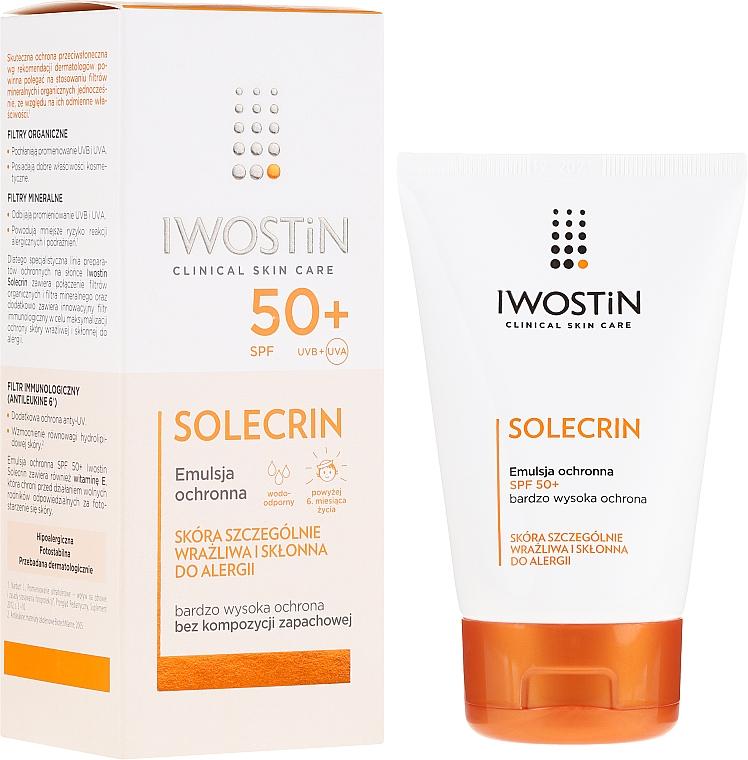 Emulsión protectora solar con extracto de luminaria, SPF50+ - Iwostin Solecrin Emulsion SPF50+