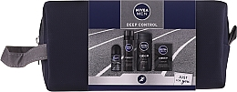 Perfumería y cosmética Nivea Men Deep Control 2020 - Set (gel de duchal/250ml+ loción aftershave/100ml+ espuma de afeitar/200ml+ deo/50ml+ neceser)