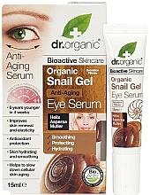 Perfumería y cosmética Gel antienvejecimiento para contorno de ojos con baba de caracol - Dr. Organic Bioactive Skincare Anti-Aging Snail Gel Eye Serum