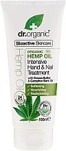 Perfumería y cosmética Crema de manos y uñas intensiva con aceite de cáñamo orgánico - Dr. Organic Hemp Oil Intensive Hand & Nail Treatment